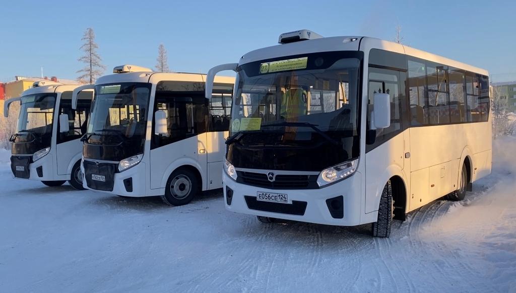 Три новых автобуса добавлены на маршрут 27 «К» в Талнахе