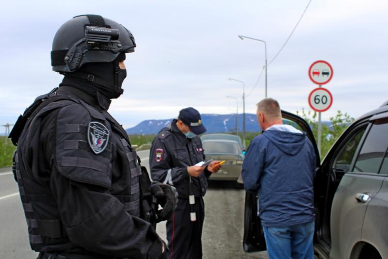 Дорожные полицейские Норильска совместно с росгвардейцами провели профилактический рейд на загородных автодорогах