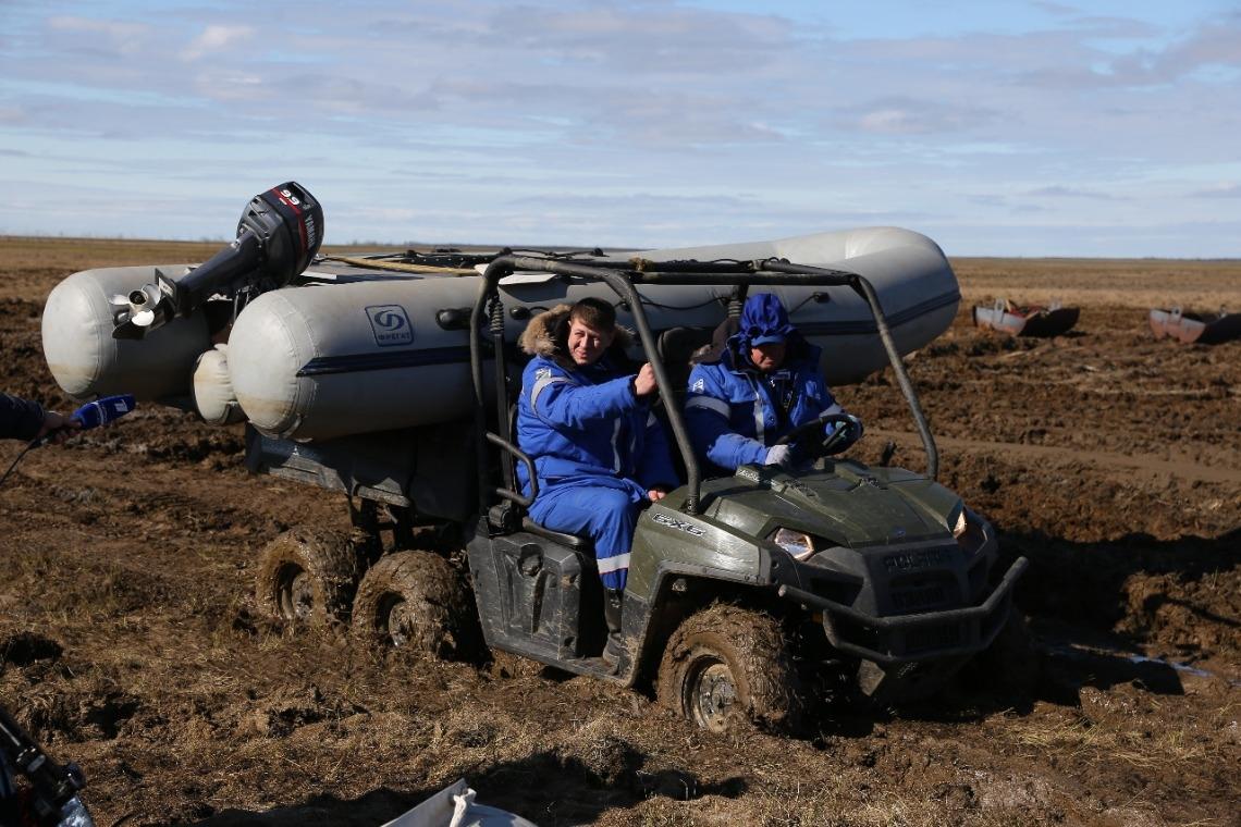 Погода в Норильске внесла коррективы в работу спасателей в лагере на реке Амбарная