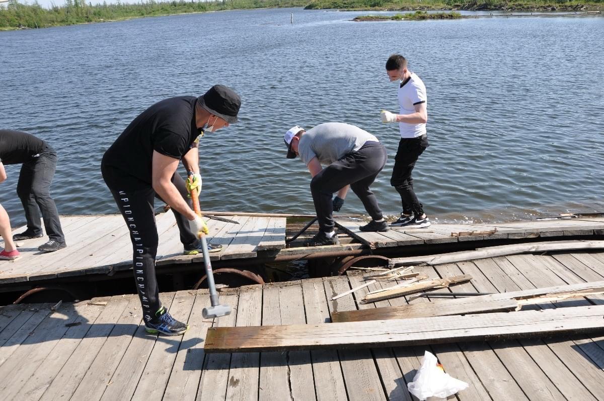 С реконструкции причала озера Большой Оль-Гуль началось благоустройство лыжной базы в Норильске