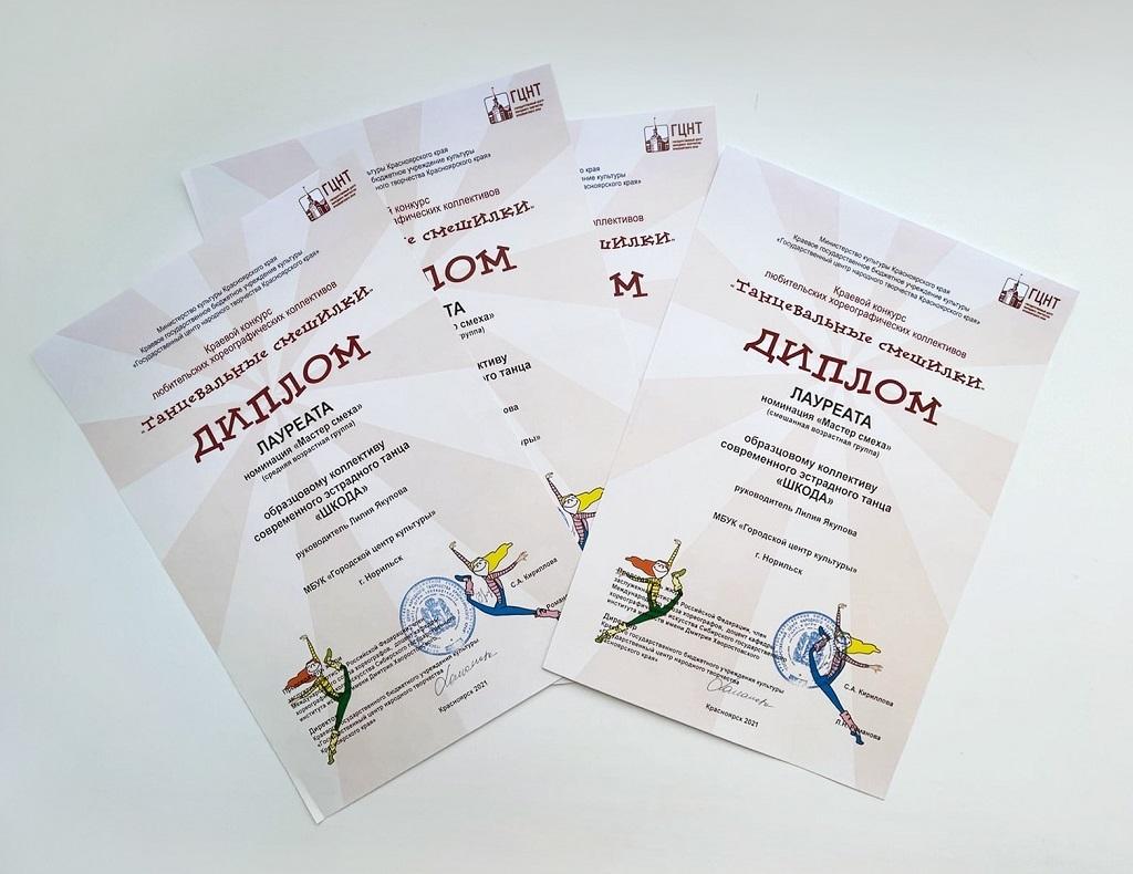 Ансамбль современного танца «Шкода» стал лауреатом I степени краевого конкурса «Танцевальные смешилки»