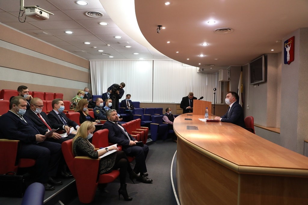 Глава Норильска Дмитрий Карасев провел заседание КЧС