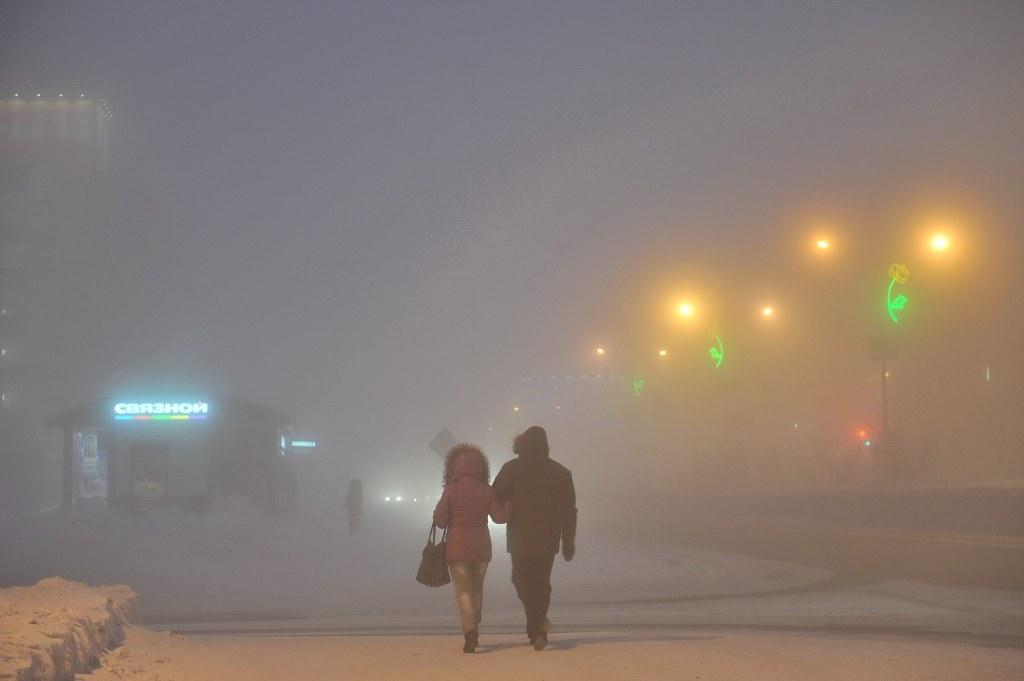 С 00.00 16 января в городе объявлено штормовое предупреждение по очень сильному морозу