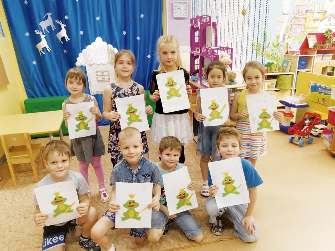 В детском саду «Земляничка» ребята творят в кружке «Волшебная бумага»