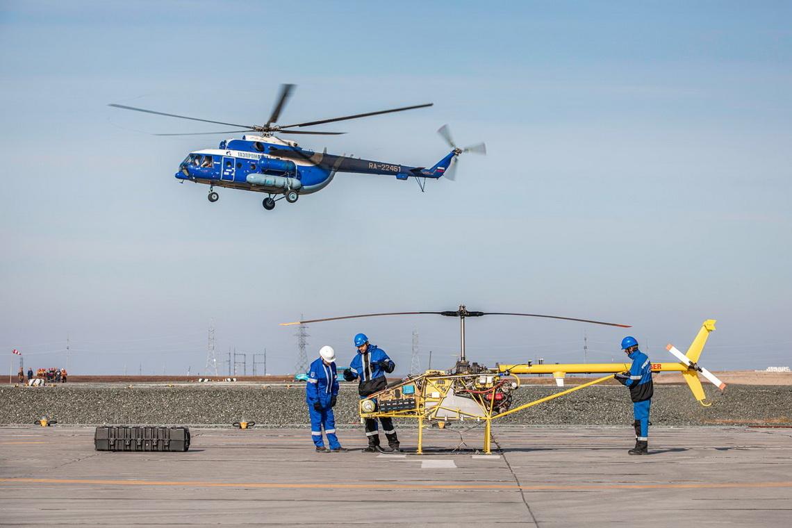 Компания «Газпром» успешно испытала в Арктике тяжёлый беспилотник