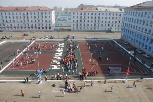 Норильские спортсмены получили подарок в день рождения города – современную спортивную площадку