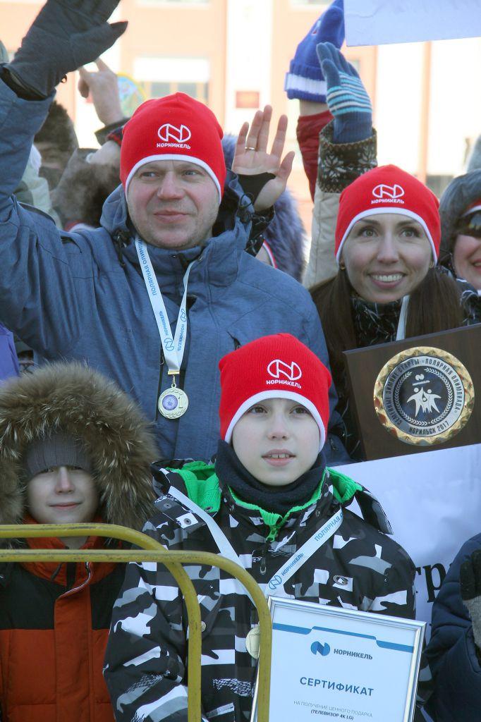Семейная команда, выступавшая за администрацию Норильска, победила в третьей Полярной олимпиаде.