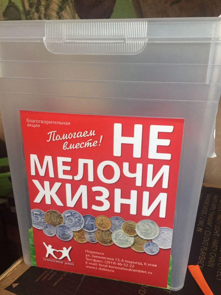 В Норильске началась подготовка к благотворительной акции «НЕ мелочи жизни». Стать ее участником может каждый желающий.