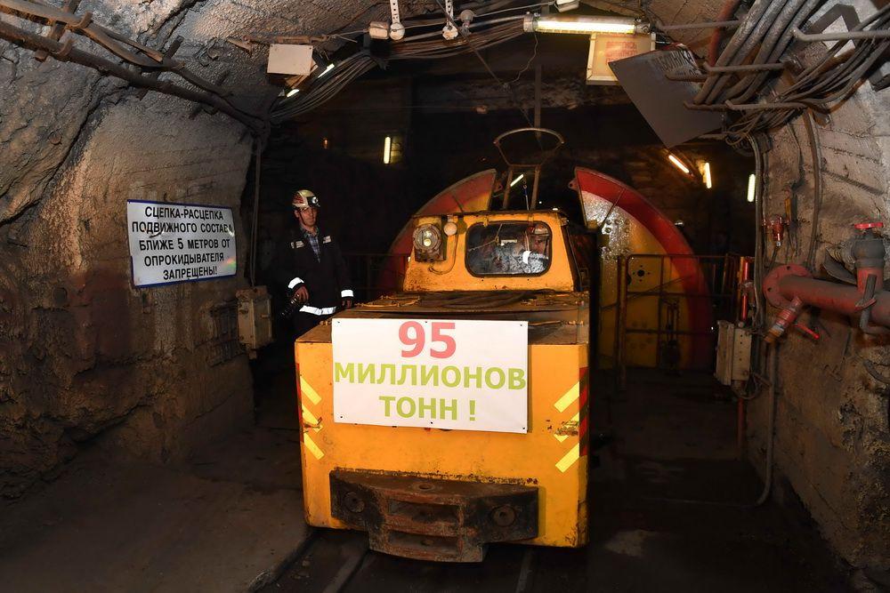 На руднике «Таймырский» добыли 95-миллионную тонну руды.