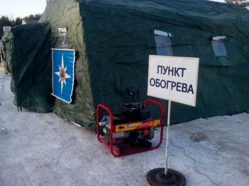 На автодорогах Красноярского края открылось больше 100 пунктов обогрева, из которых в Норильске - 23.
