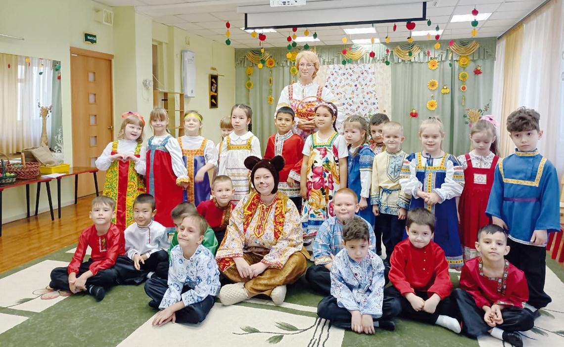 Фольклорное развлечение устроили в детском саду «Топ–Топ»