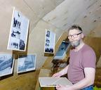 Александр Дедов в музее полярной авиации в Диксоне
