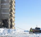 В Оганере начался демонтаж недостроенных домов, на месте которых в дальнейшем будет возведён новый жилой комплекс
