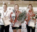 Анна Шульце (в центре) — обладательница Кубка России по гольфу. 2019 год