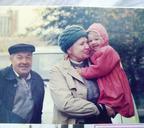 Пенсионеры Чалкины с внучкой Наташей, дочерью Александра